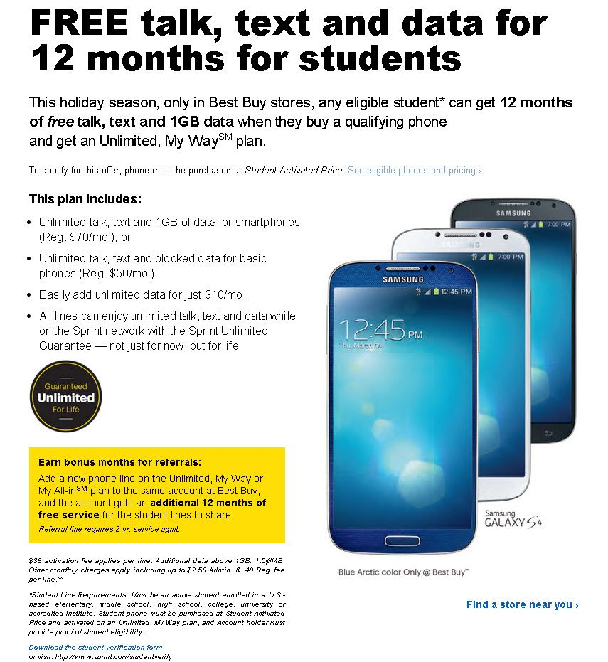 Sprint Now Offering Free Talk, Text and Data to Students