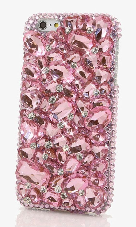 hot sale online 5fee0 c2409 Handmade pink crystal phone case, iphone case diy | Cell Phone Case ...