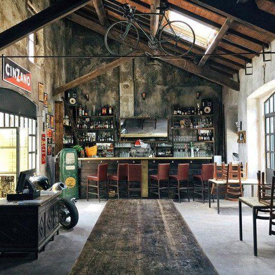 Garage Design, Rustic Bar, Industrial Interiors
