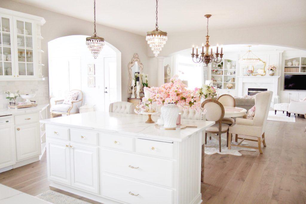 Elegant French Farmhouse Spring to Summer Kitchen
