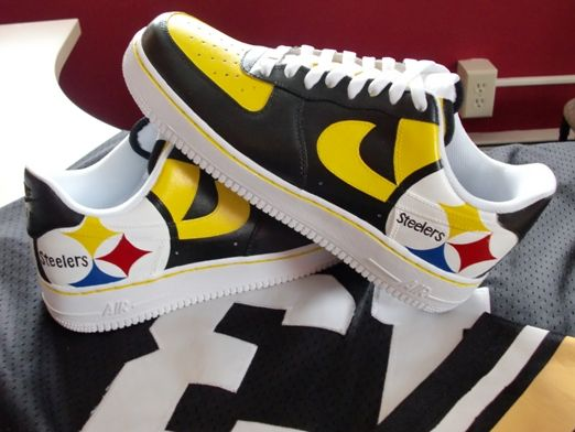Pittsburg Steelers Nike Air Force One Shoes | STEELERS  free shipping