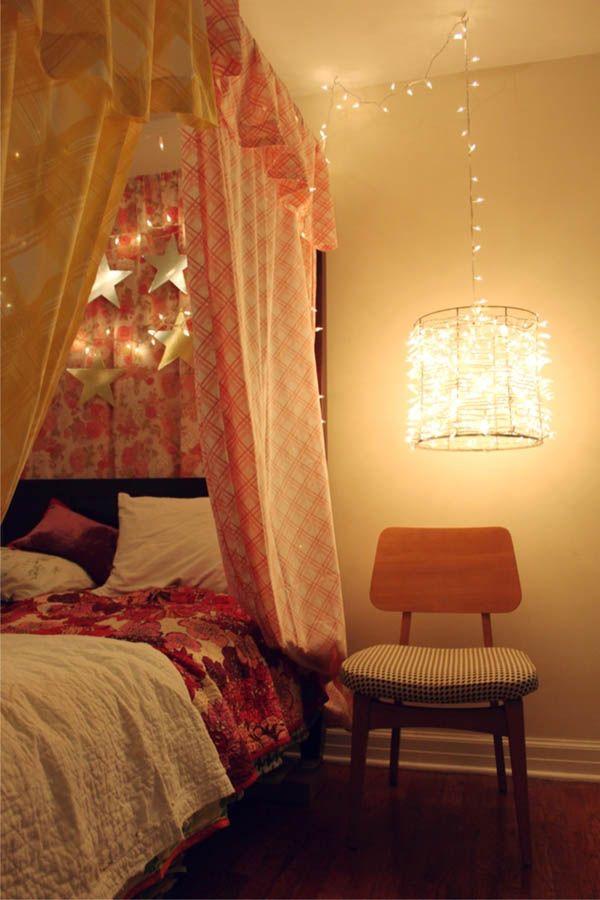 christmas light honeymoon bedroom decoration ideas