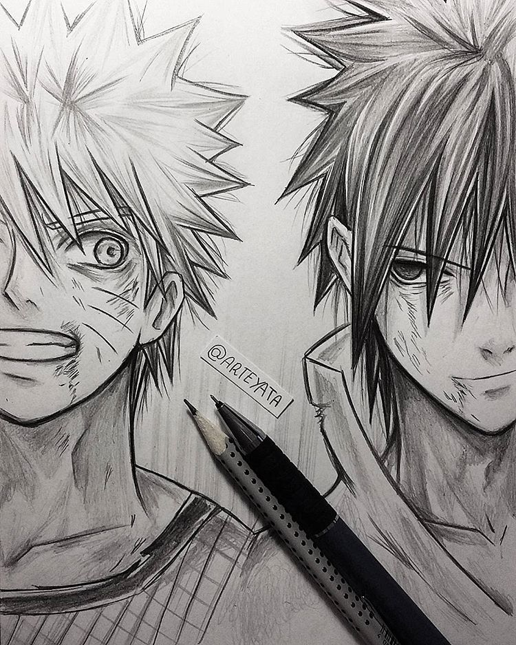 Naruto Sasuke Sketch Soo Many Feelsss In Yesterday S