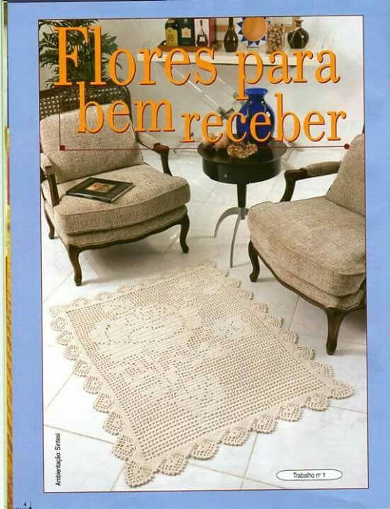 Pin de Rosa Medeiros en Tapetes de Crochê | Pinterest | Flores