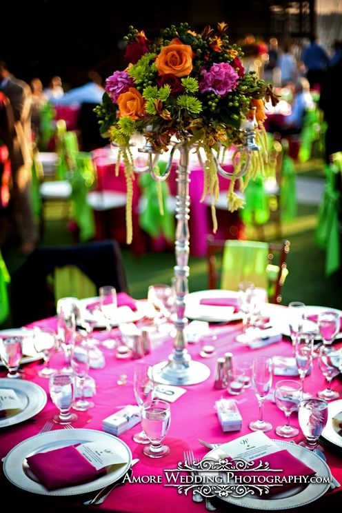 tropical centerpiece ideas | tropical centerpiece