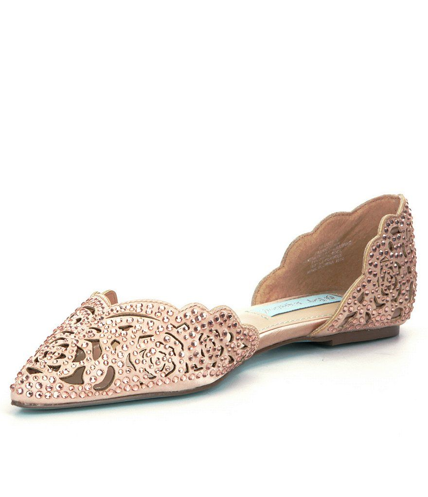 08d7c5a11fb6 Blush Blue by Betsey Johnson Lucy Stone-Embellished Satin d Orsay Flats