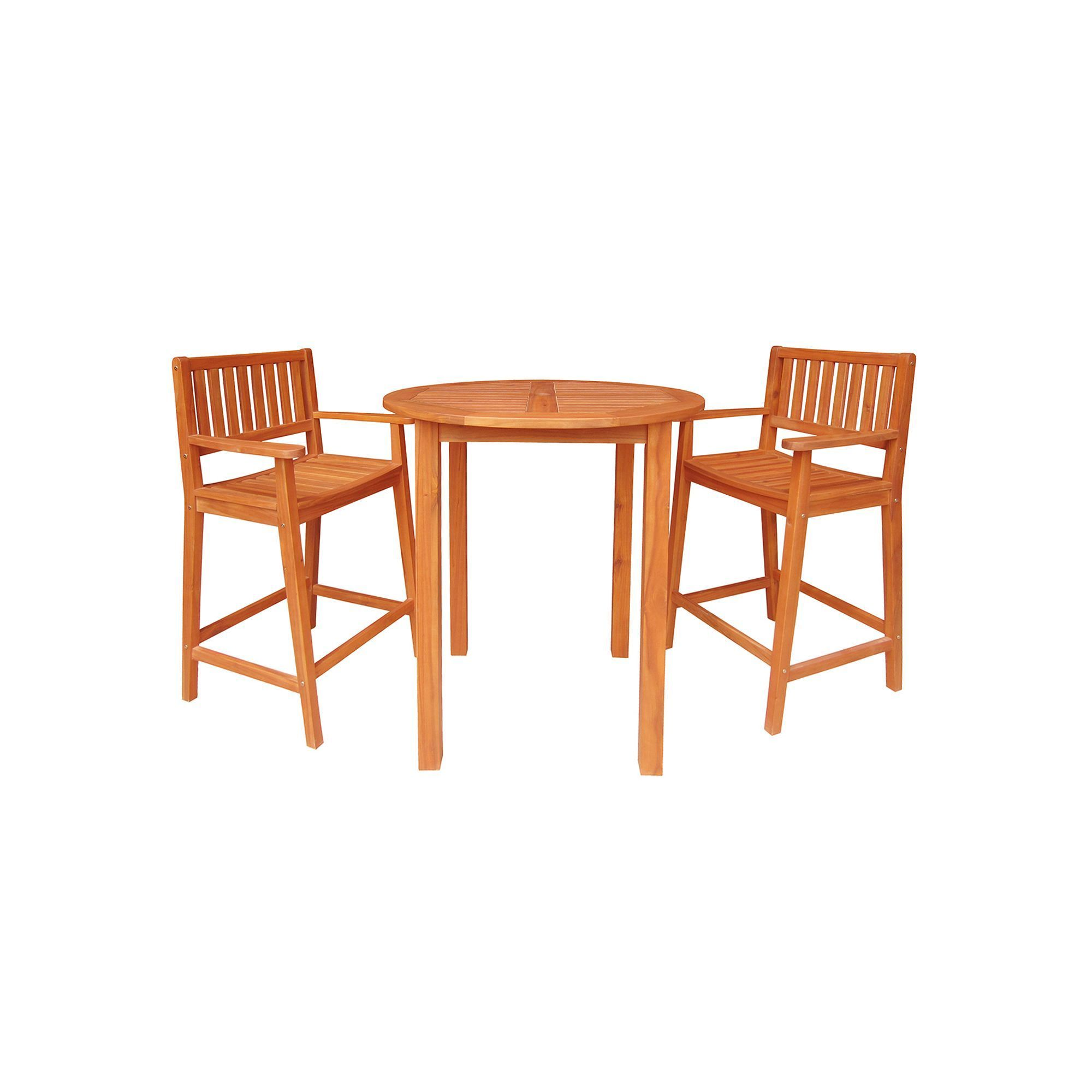 Outdoor 3-pc. Contemporary Bar Set, Brown   Patio dining ...