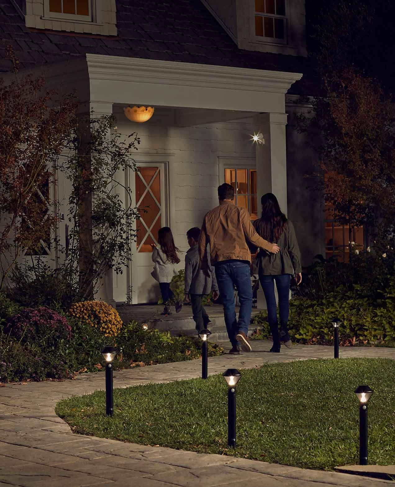 Shine Ring Smart Lights when you arrive at home and
