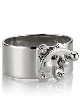 Silver Plated Hook Latch Cuff Eddie Borgo