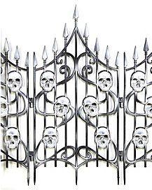 3 Ft Skull Swirl Fence - Decorations