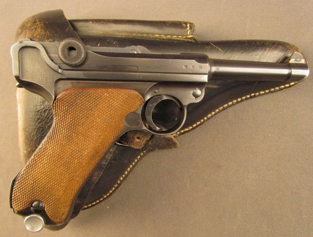 German Kriegsmarine P 08 Luger Pistol With Two Matching