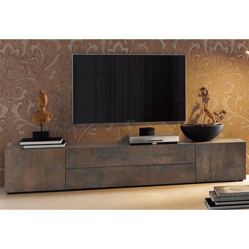 meuble tv bas 2 portes 2 tiroirs