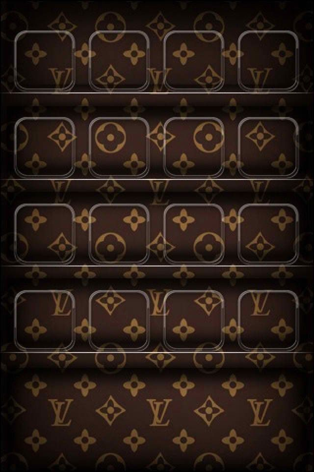 Louis Vuitton Fashion Logo Shelf HD Wallpapers for iPhone