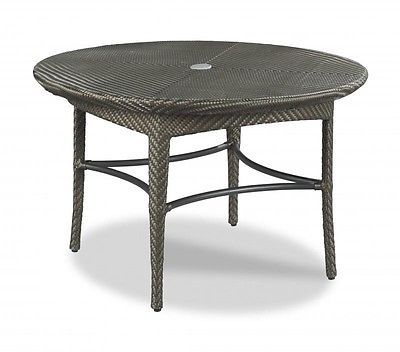 CAFE TABLE WOODBRIDGE OUTDOOR ROUND TOP ROUNDED TAPERING LEGS ESPRESSO NE