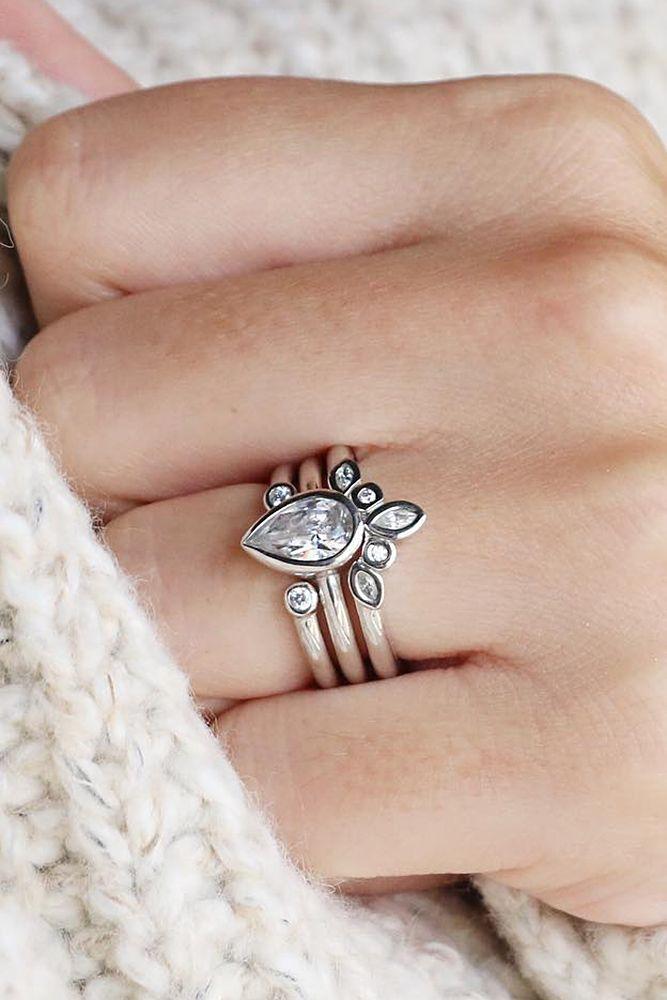 21 Budget-Friendly Engagement Rings Under $1,000 ❤️ cheap engagement rings pear cut marseille silver diamond nexus ❤️ See more: http://www.weddingforward.com/cheap-engagement-rings/ #weddingforward #wedding #bride