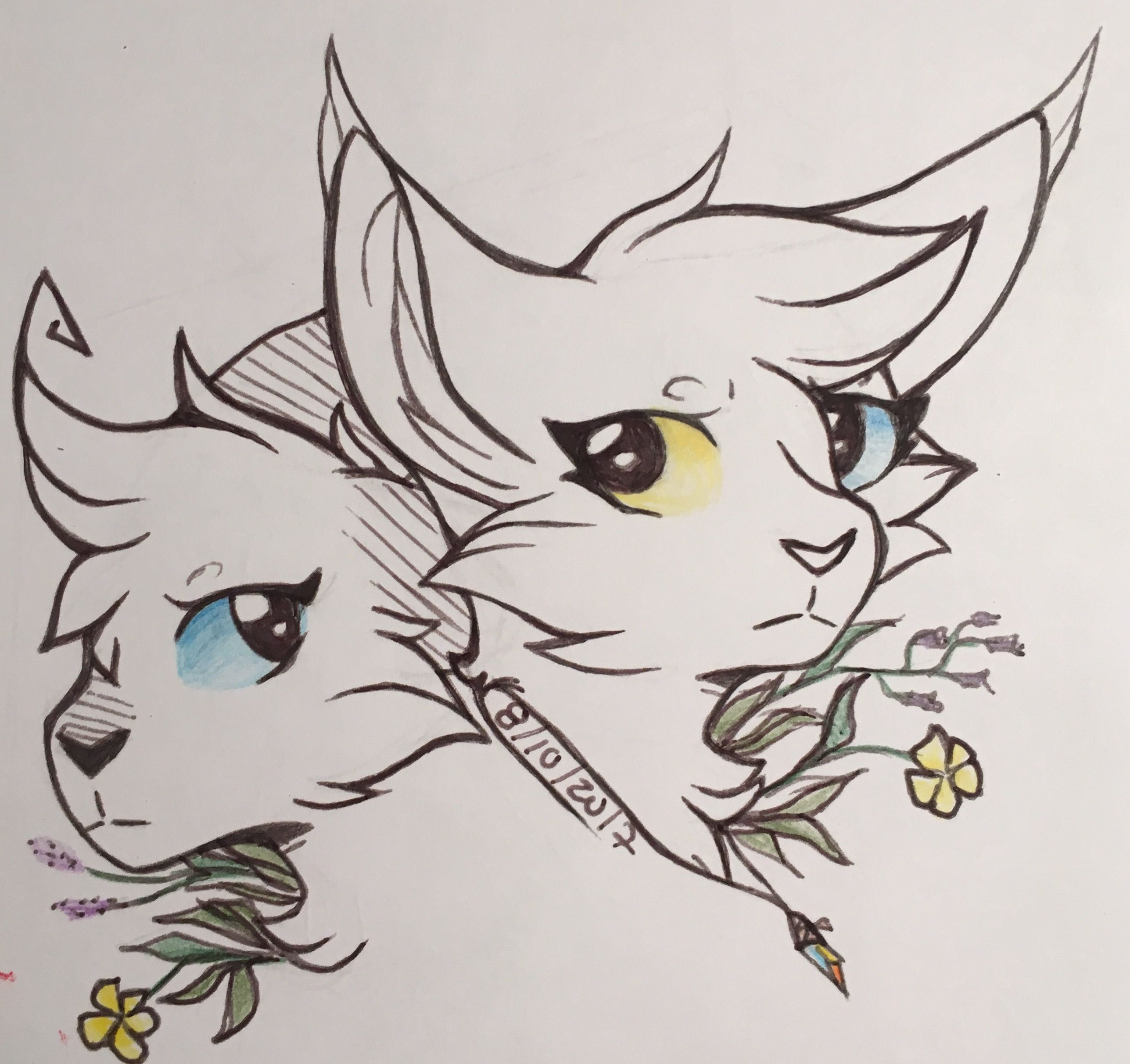 My Ocs Iris And Lia I Just Finished My Lil Sketchbook 3