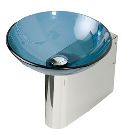 Nice Decolav Wall Mounts 11.875 In H Polished Stainless Steel Pedestal Sink
