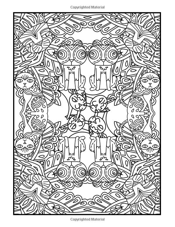 Coloring Books For Grownups Cat Whimsy Mandalas Geometric Shapes Coloring Pages Complex Ar Art Therapy Projects Art Therapy Activities Mandala Art Therapy