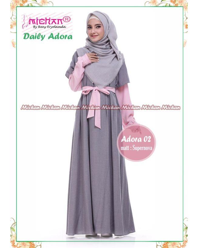 Gamis Michan Daily Adora 02 Baju Muslim Wanita Baju