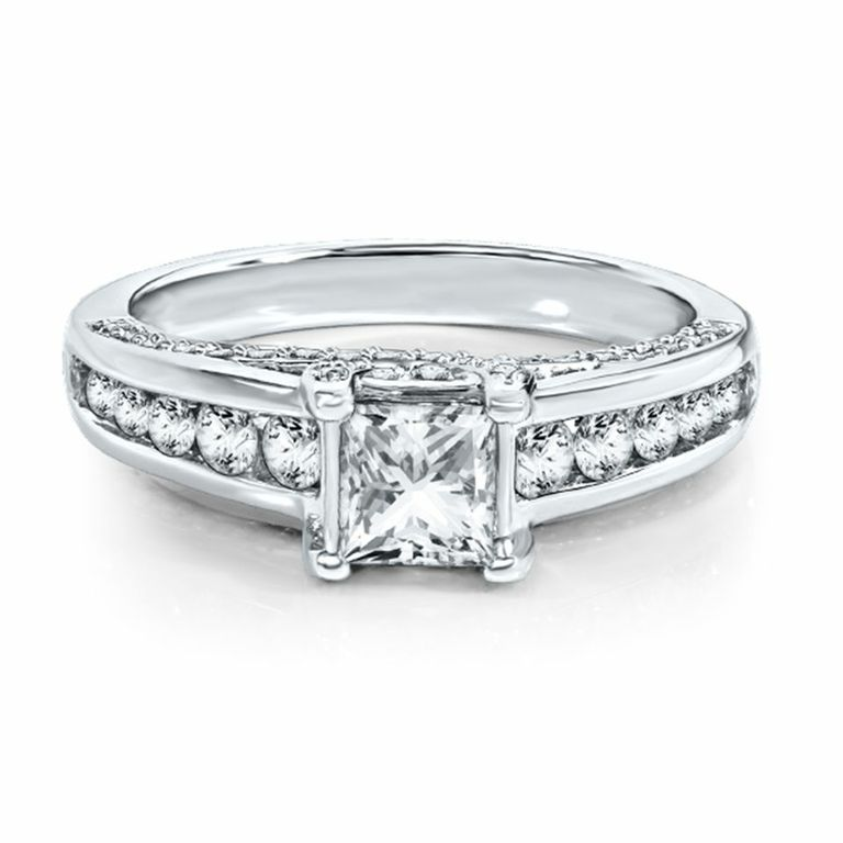 diamond ring in 14k white gold - Helzberg Wedding Rings