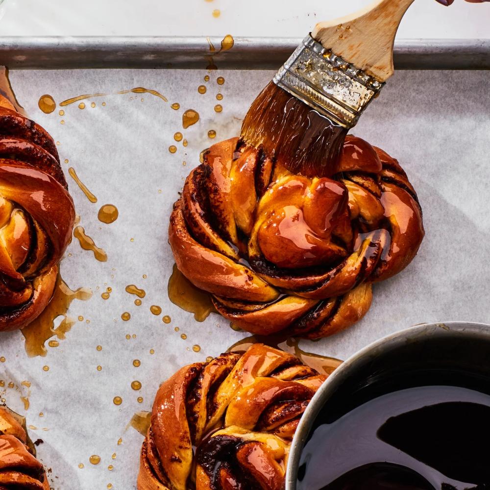 How to Make and Shape Our Glazed Cinnamon-Cardamom Buns