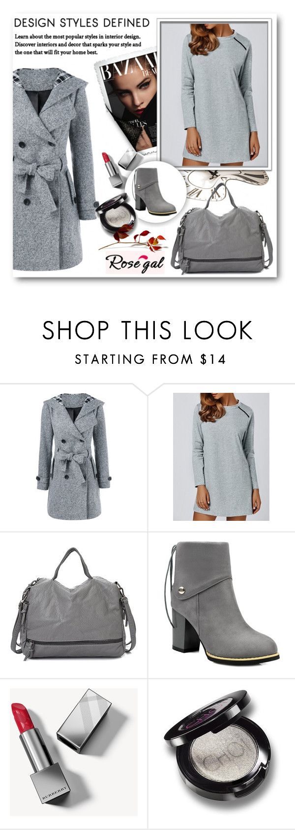 """55) ROSEGAL"" by mirecr7 ❤ liked on Polyvore featuring Burberry"