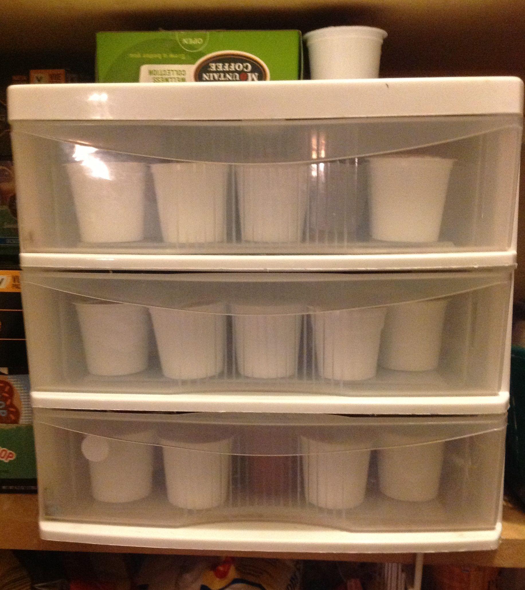 Keurig KCup/Vue cup holder. Keeps my counter top cleaned