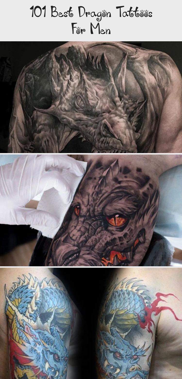 Photo of 101 besten Drachentattoos für Männer – Tattoo İdeas – Amazing Blue Dragon Tattoo Id …