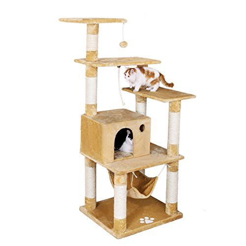 Beautiful Cat House with Scratching Post