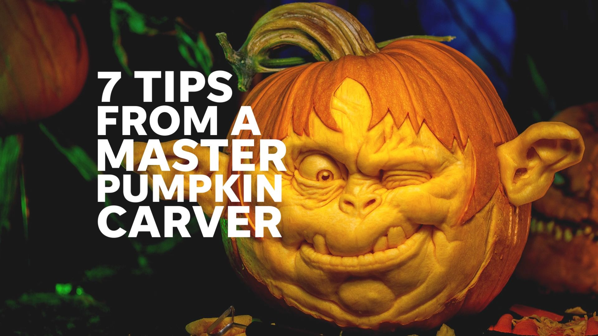 Pumpkin carving master Ray Villafane turns pumpkins into works of art -   15 pumkin carving creative and easy ideas