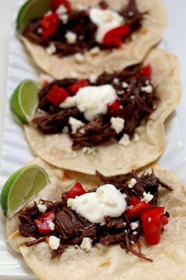 instant pot shredded beef street tacos rezept instapot recipes pinterest