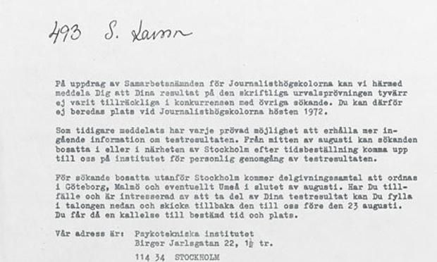 Stieg LarssonS Rejection Letter  Inspirational Story