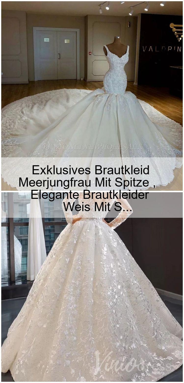 Exklusives Brautkleid Meerjungfrau Mit Spitze , Elegante ...