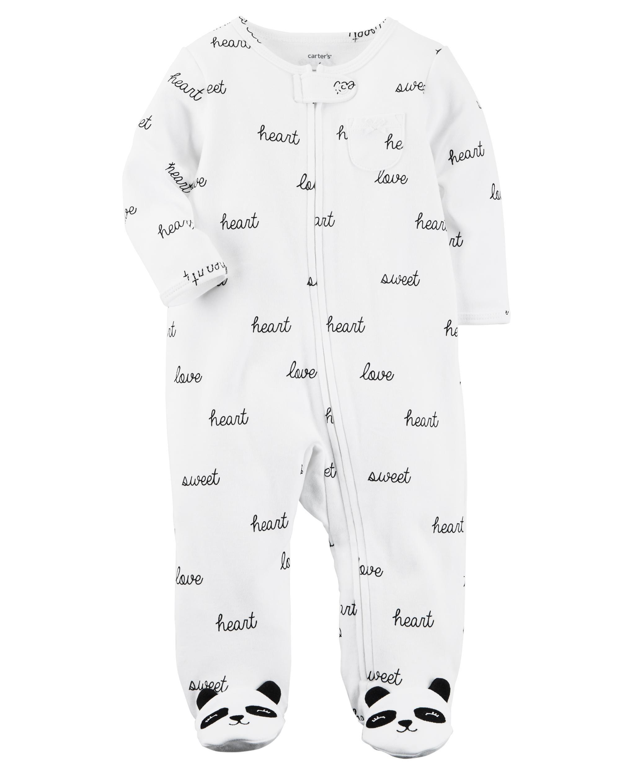 Panda Zip Up Cotton Sleep & Play