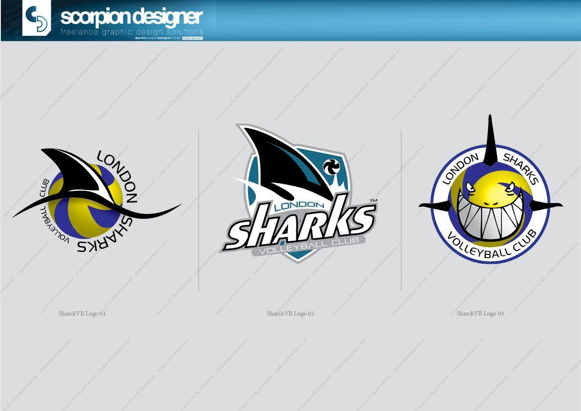 London Sharks Volleyball Club Logo Development Logos Graphic Design Logo Developer Logo