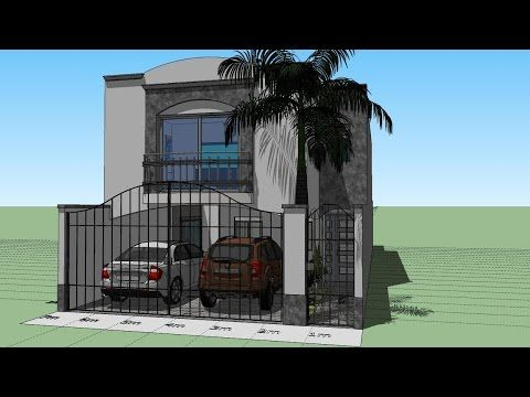 Como Disenar Una Casa De 7x15 Mts De Terreno Youtube Small House House Styles Architecture
