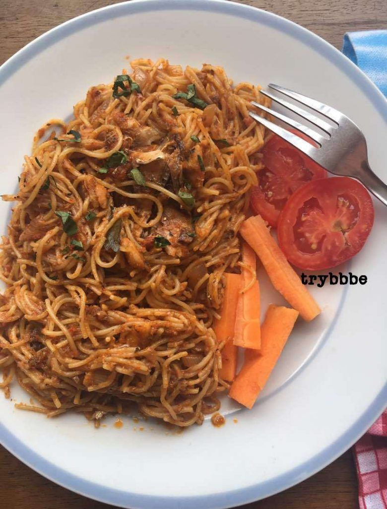 Spaghetti With Sardines Recipe Recipes African Food Oriental
