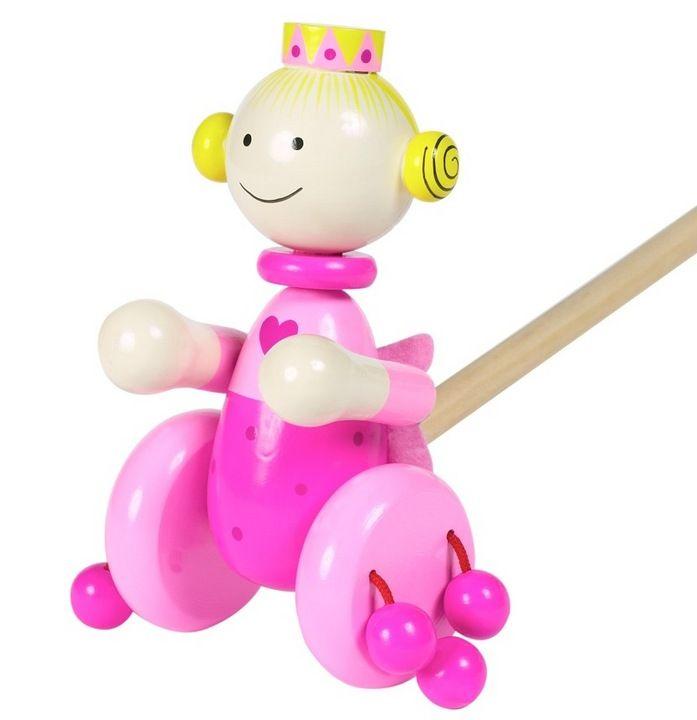 #Handmade Push Along #Princess #Wooden #Toy £8.95