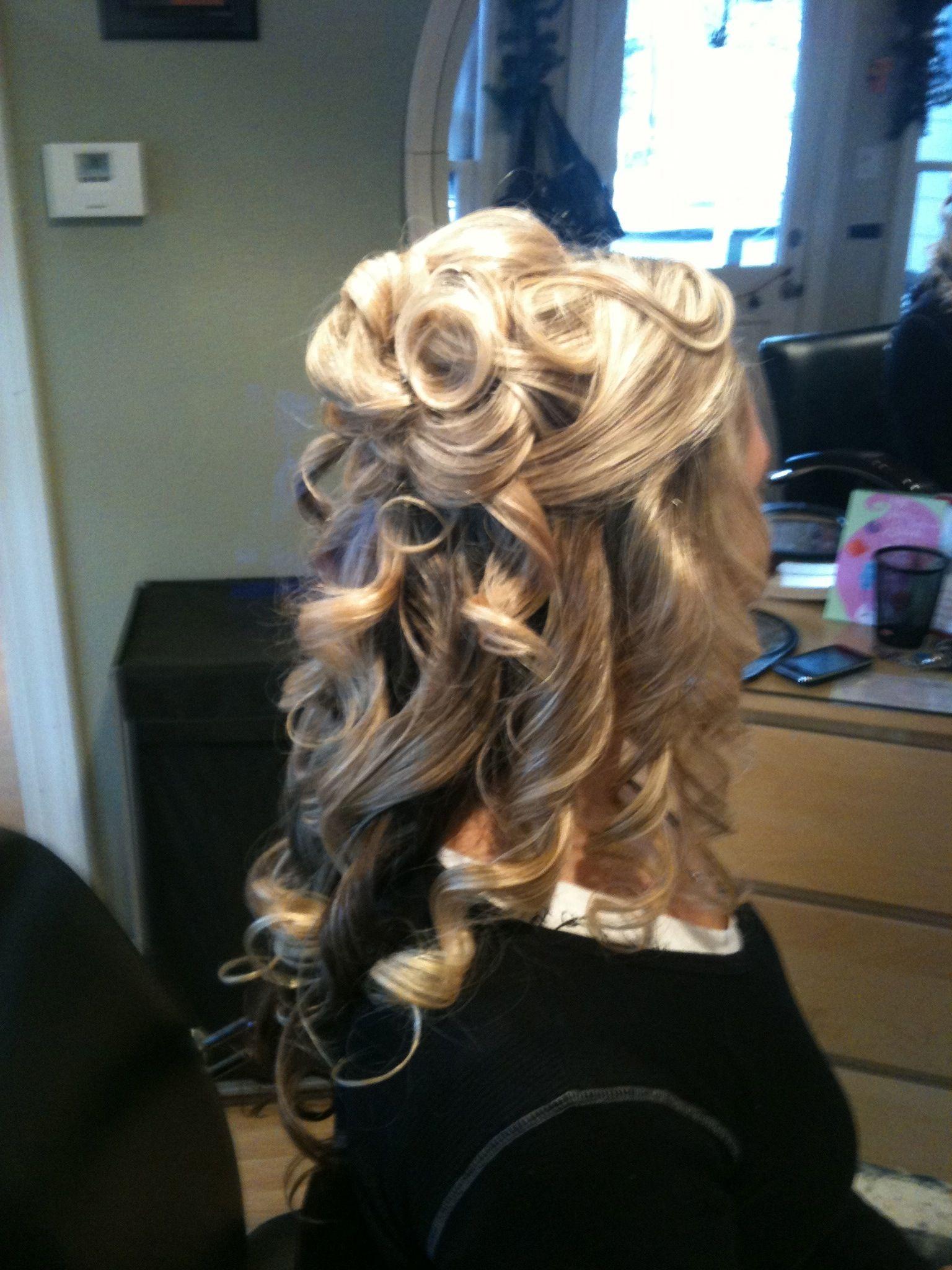 bridal hair partial updo - Google Search | Partial updo, Hair, Long hair styles