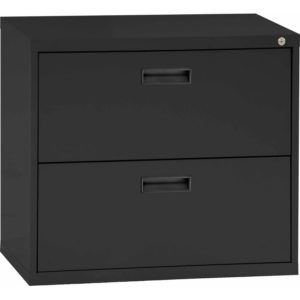 New Black Lateral File Cabinet