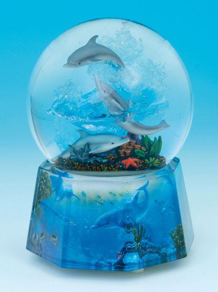 Bola de nieve musical delfines dolphins - Bola nieve cristal ...