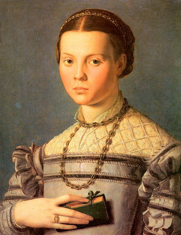 Portrait of a Young Girl with a Prayer Book by Agnolo Bronzino
