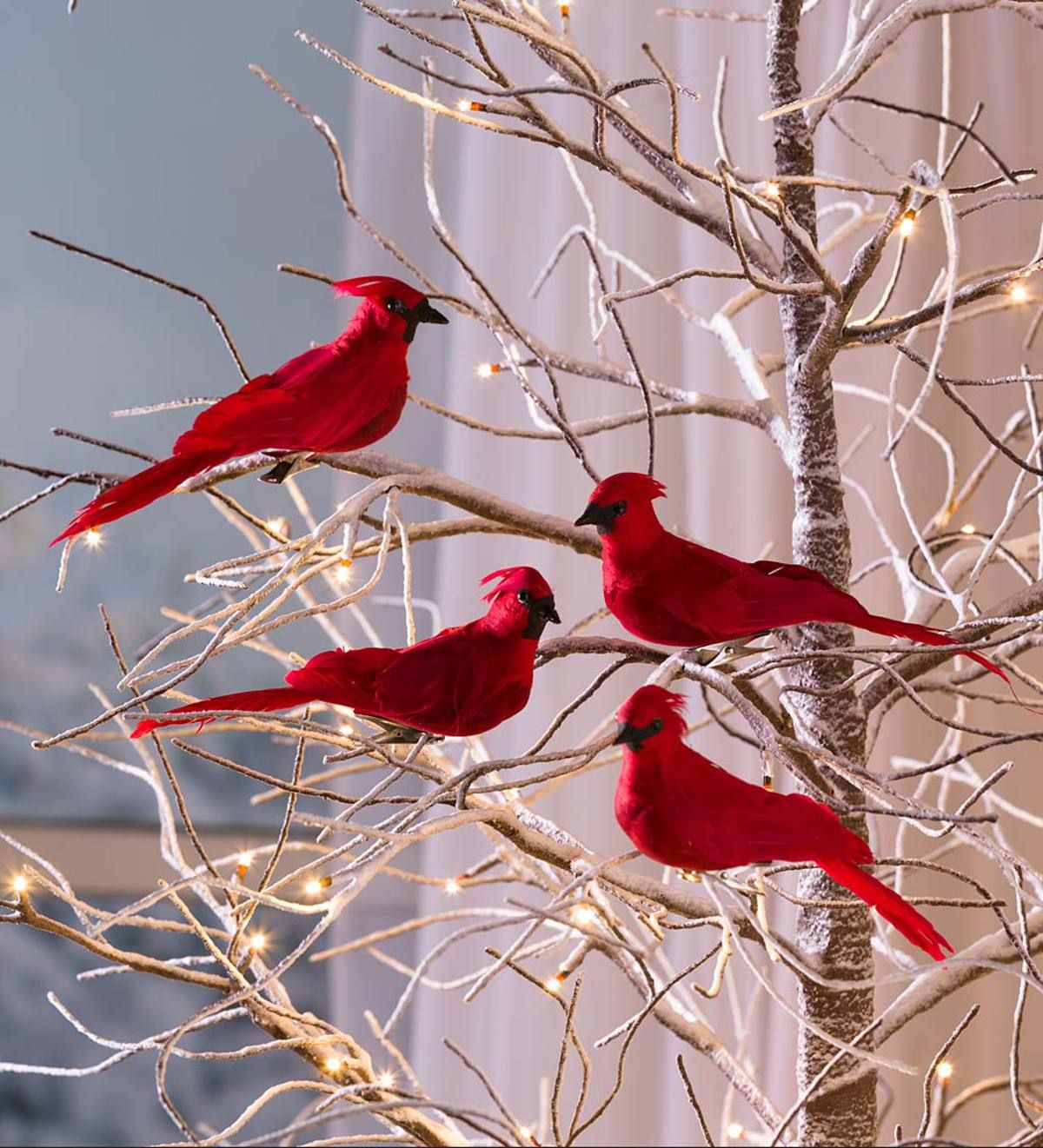Vibrant Red Birds Bring Your Holiday Display To Life Our Clip On Cardinal Christm Christmas Tree Ornaments Cardinal Christmas Decor Old Fashion Christmas Tree