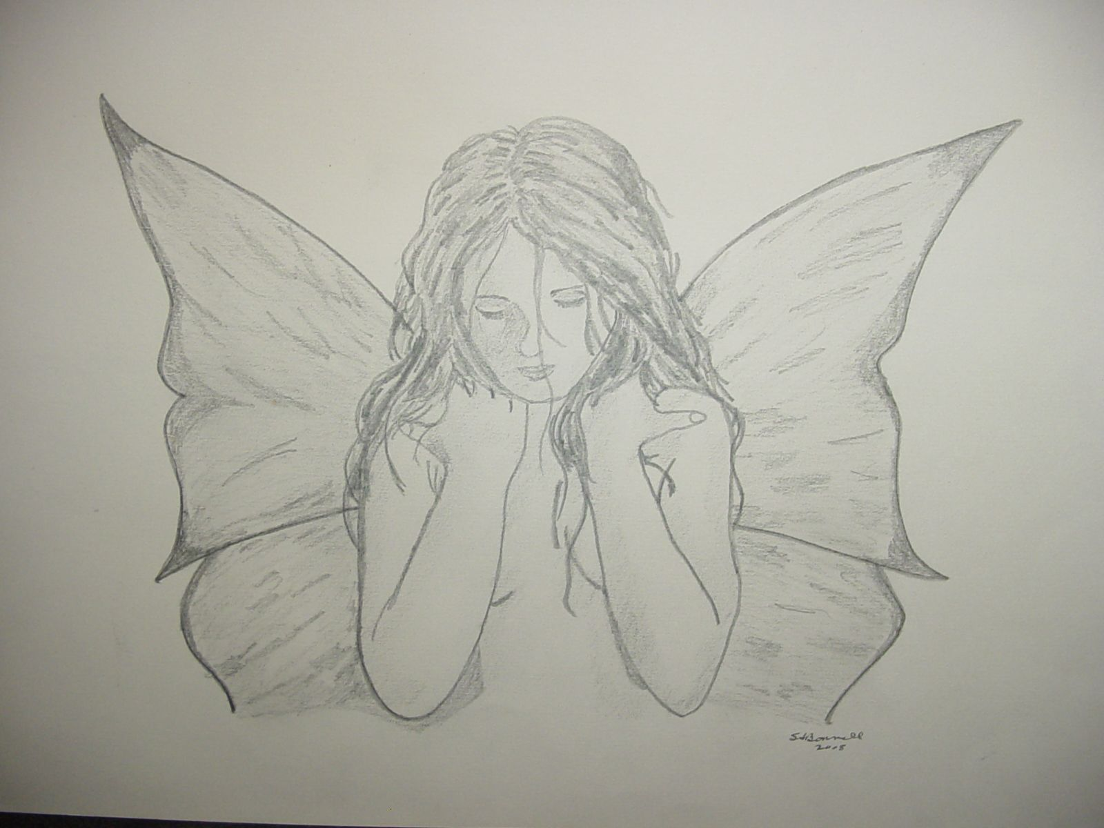 "Pencil drawing ""Sad Fairy"" 