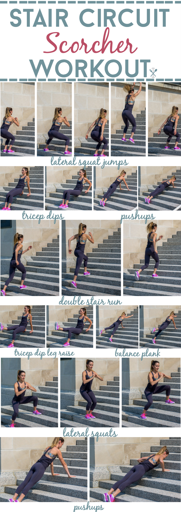 Stair Circuit Scorcher Workout Stairs Workout Full Body Cardio Park Workout