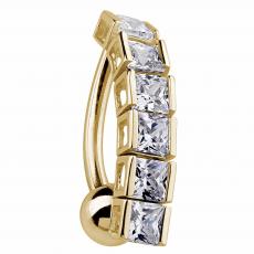 PRINCESS TENNIS BRACELET INSPIRED 14k Yellow Gold Reverse ...