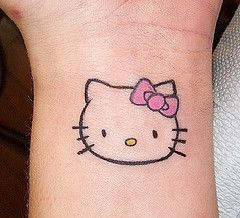 Hello Kitty Outline On Wrist By Conspiracy Ink Tattoos Via Flickr Hello Kitty Tattoos Hello Kitty Kitty