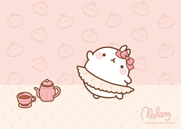 Molang's school of bunny ballet.