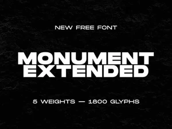 Monument Extended Font Dafont Free