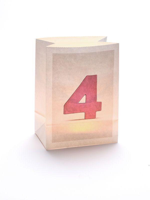Die Zahl 4 auf einer Windlicht Tte Wunderbar als alternative